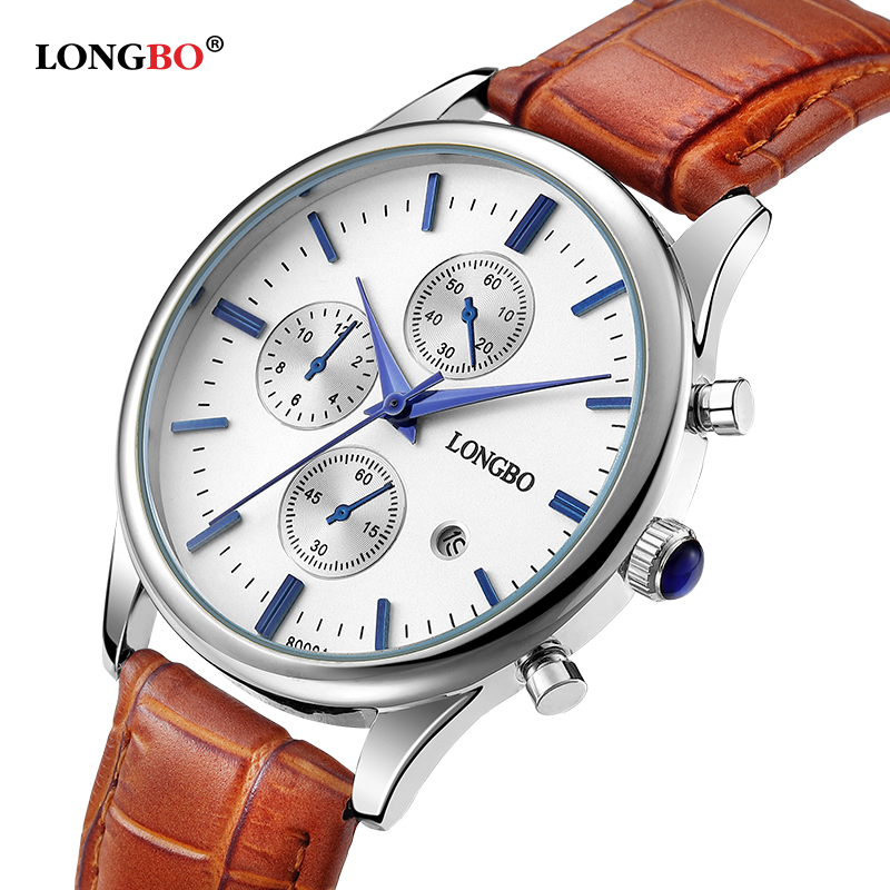 New Arrival Lovers' Quartz Watches Women Leather Longbo Brand Casual Watch Men Analog Sports Wristwatches With Calendar 80061