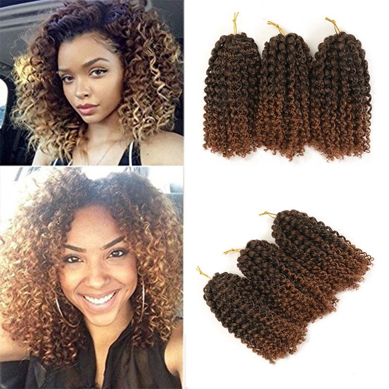 Hot Sale Kinky Twist Hair Crochet Braids 8 Inches Curly Crochet Hair