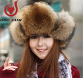 2015 New Arrivals Autumn and winter Men  Women real natural raccoon fur hat female winter warm big hair Fox Fur