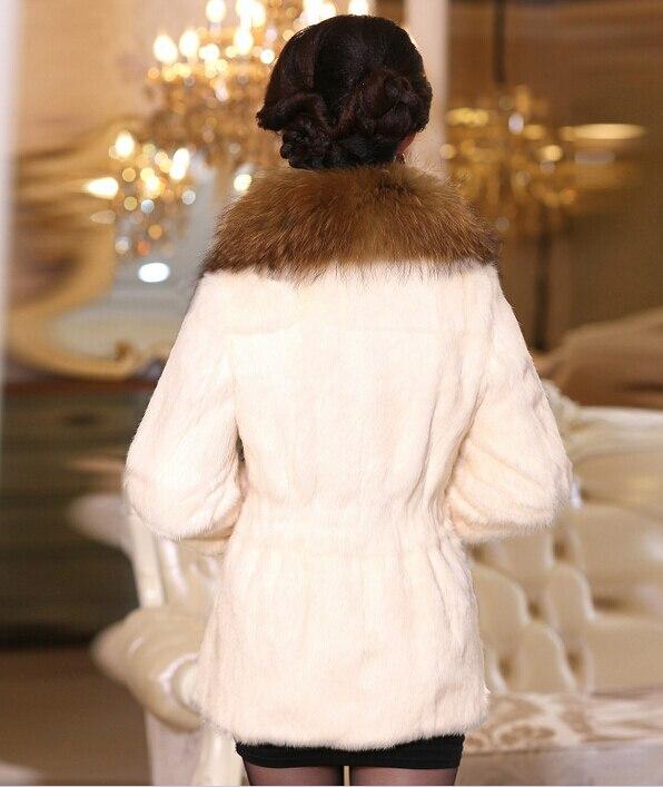 Veste Collier Avec Chaud Épais De Manteau Pelt Kfp802 Raton Pleine burgandy Laveur Luxe black Nature Lapin Grande Fourrure Beige XY77w68xq