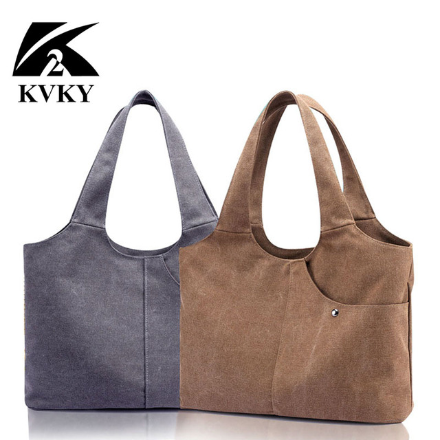 1dbd48934b Korea Fashion Canvas Tote Bag Women Handbag Shoulder Bags Big Bag Casual  Hobos Bolsa Female Feminina