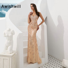 Awishwill 2019 Prom Dress Mermaid African Floor Length
