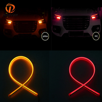 POSSBAY Car Turn Signal Lamps Sequential Slim Flowing Flexible LED Strip Lights Waterproof DRL Daytime Running Light Lamp