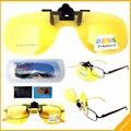F3 ночного видения вождения поляризовыванная желтый Clipon флип-вверх солнечные очки
