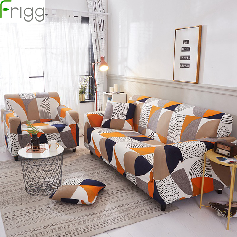 1/2/3/4 Seater Printing Sofa Cover Modern High Elastic Polyester Couch Sofa Slipcovers Chair Furniture Protector Living Room-in Sofa Cover from Home & Garden