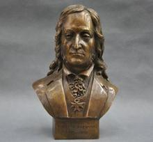 """Details about  8"""" Italian Great Musician Niccolo Paganini Bust Bronze Statue"""