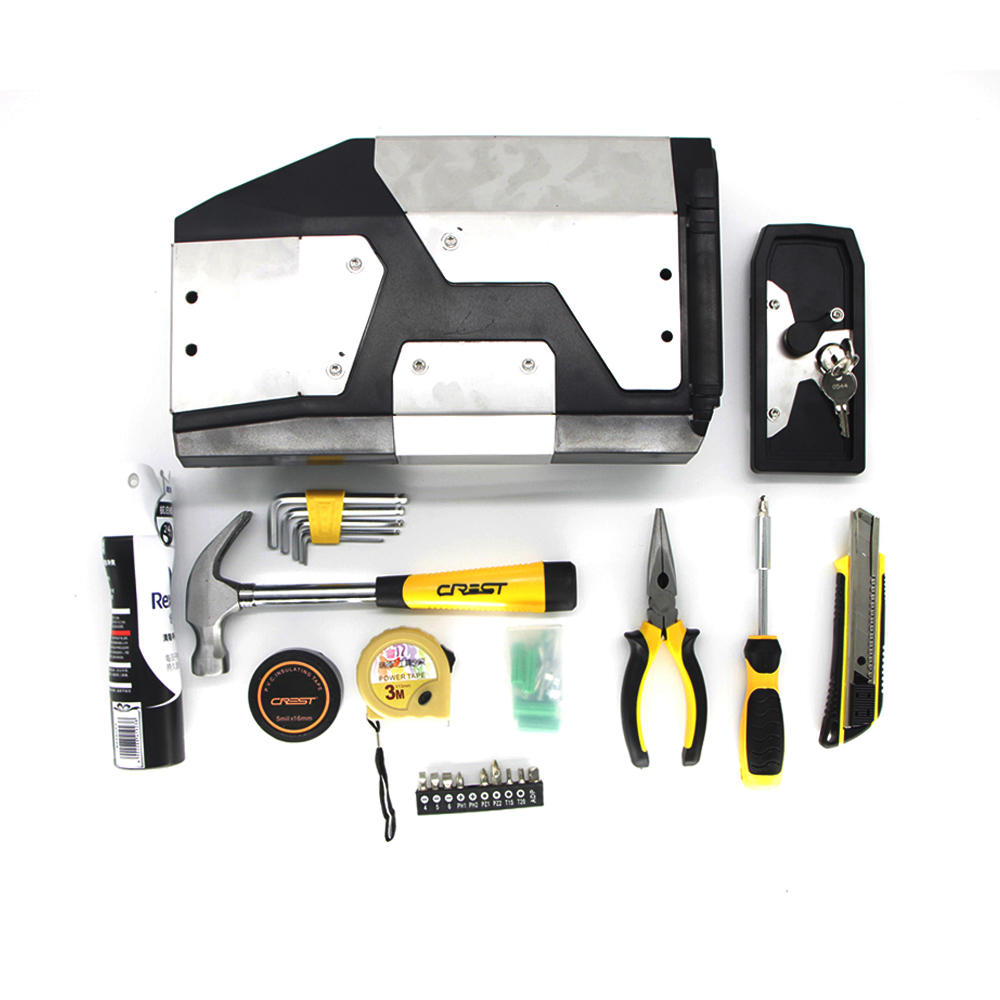 For <font><b>BMW</b></font> R1250GS LC <font><b>R1200GS</b></font> R 1250 adv <font><b>Adventure</b></font> 2014-2019 Decorative Aluminum Box Toolbox 4.2 Liters Tool Box Left Side Bracket image