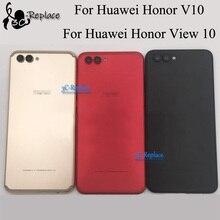 עבור Huawei Honor V10 BKL L09 BKL TL10/הכבוד להציג 10 חזרה סוללה כיסוי דלת שיכון מקרה אחורי זכוכית חלקי