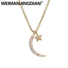 Star Pendant Necklace Moon Women CZ Brand WEIMANJINGDIAN for Cubic-Zirconia New-Arrival