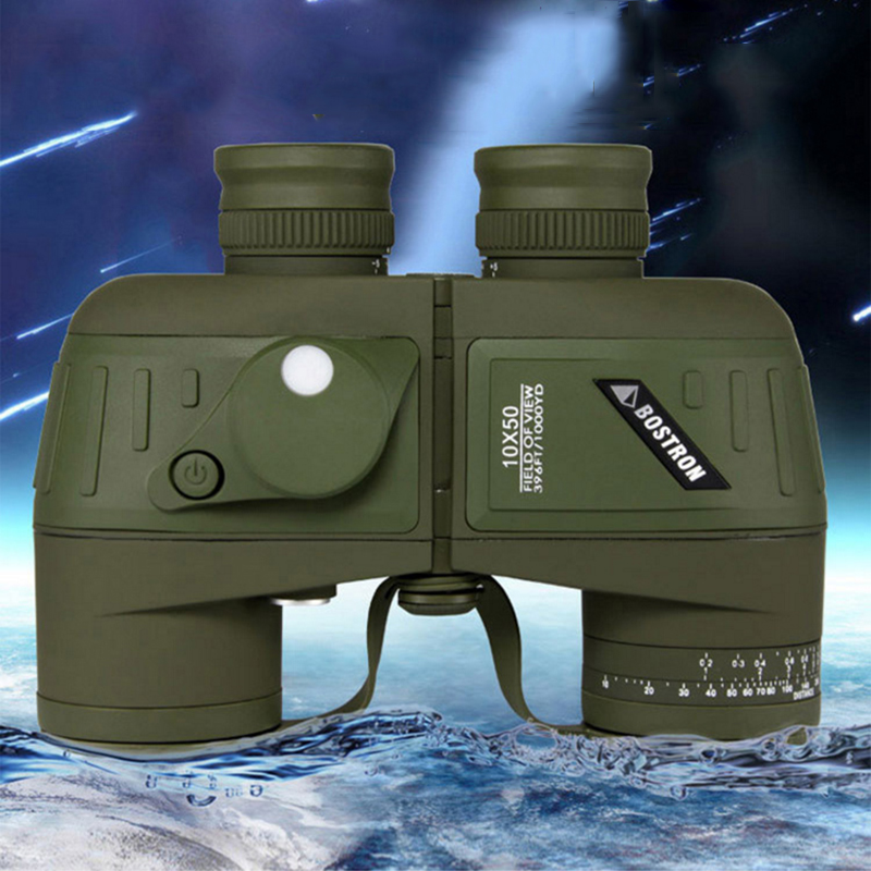 Germany Military HD Powerful Compass Ranging Binoculars Professional Waterproof Marine 10x50 Zoom Binocular Telescope for Vovage