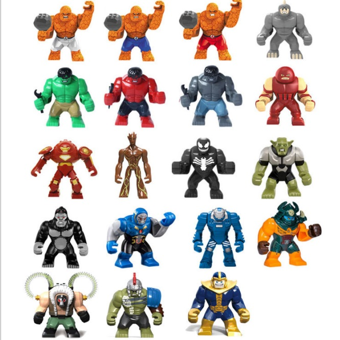 Decool Super Heroes 7.5cm+ Big Size big man Size Hulk buster Bane thanos Shuren Building Blocks FIT for LEGO for minifigure