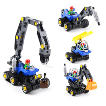 лучшая цена Big blocks shop truck 4 in 1 derrick crane Assembly model blocks educational children toys432