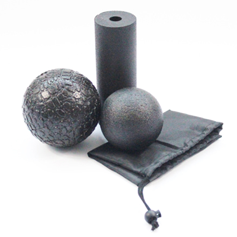 3 in1 conjunto PPE hueco Yoga columna rodillo de espuma de Yoga masaje bola gimnasio Pilates Yoga ejercicio equipo