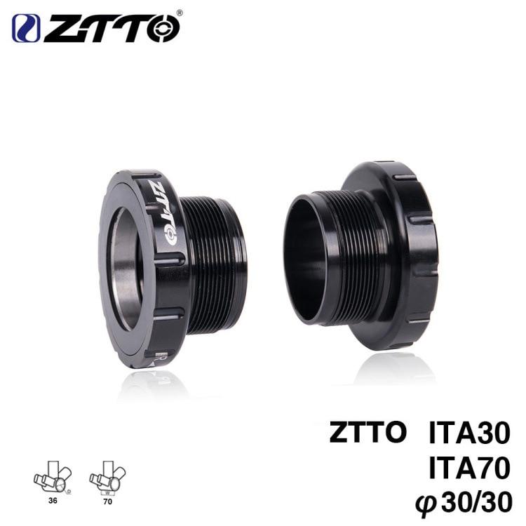 ZTTO 2019 series ITA30 ITA 70 MTB Road bike External Bearing Bottom Brackets BB for BB Rotor Raceface SLK BB386 30mm Crankset