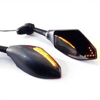 Motorcycle Front Back LED Turn Signal Integrated Mirrors for HONDA CBR 600RR 1000RR F3 F4 Yamaha FZ1 FAZER Suzuki SV650