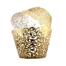 Practical Boutique Bright Silver Vine Cupcake Holders Filigree Party Cake Decor Wrapper Wraps Cupcake Muffin Paper Holders - 50p