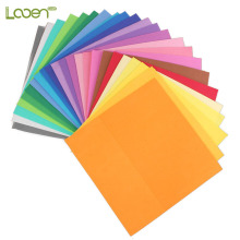24 Pcs/lot Looen 25*25*0.1cm 24color Thick Multicolor Sponge Foam Paper Fold Scrapbooking Craft DIY Gift Decor Card