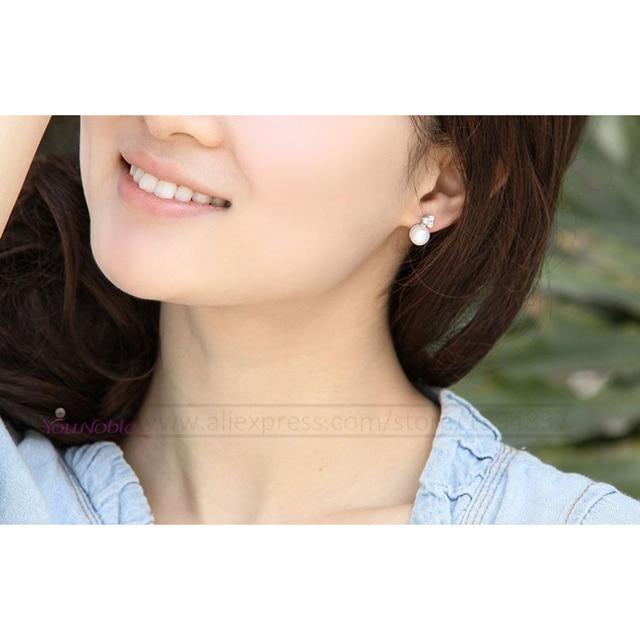 YouNoble naturale orecchino di Perla, perla con 925 orecchini Dell'argento Sterlina, regalo di Compleanno Accessori Gioielli orecchini per le donne
