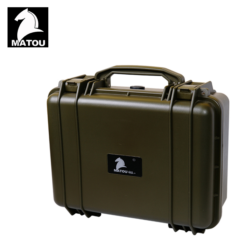 Tool case toolbox waterproof protective equipment case camera case suitcase with pre-cut foam lining Panel installation box цена и фото