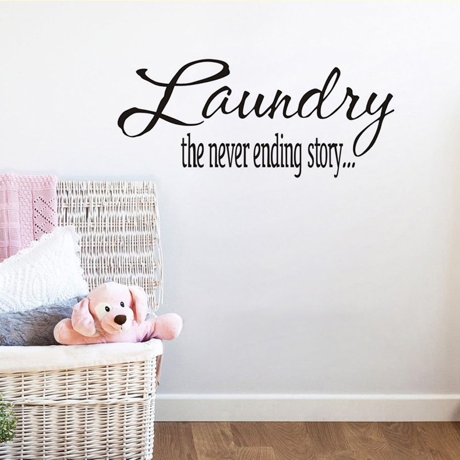 Wall Decor Home Goods: Laundry Vinyl Sticker Removable Wallpaper Home Goods