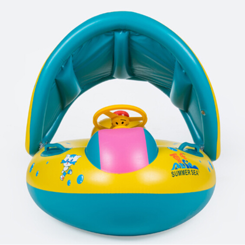 Product details of new inflatable floating swim ring kids children toy - Aliexpress Com Buy Safety Baby Child Infant Swimming Float Inflatable Adjustable Sunshade Seat Boat Ring Swim Pool Inflatable Toy From Reliable Swimming