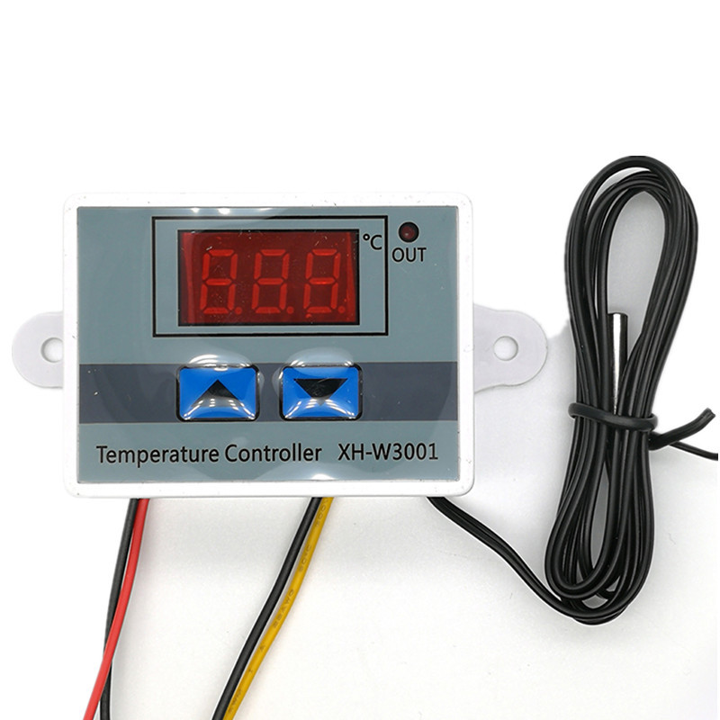 <font><b>XH</b></font>-<font><b>W3001</b></font> <font><b>W3001</b></font> Temperature Controller Digital LED DC 12V/24V AC 220V Thermometer Thermo Controller Switch Probe Max 10A NTC10K image
