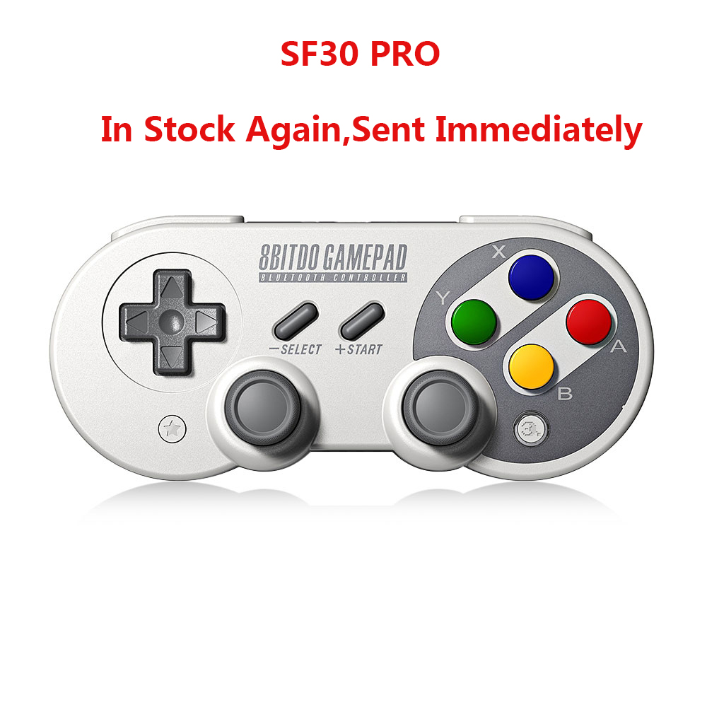 8Bitdo SF30 Pro Gamepad For Nintendo Switch Windows MacOS Android Controller Joystick Vibration Wireless Bluetooth Controller 8bitdo fc30 pro wireless bluetooth controller dual classic joystick for android gamepad pc mac linux