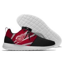 2018 кроссовки Национальной хоккейной лиги detroit red wings логотип болельщики любят Удобный Легкий вес прогулочная обувь
