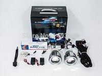 2017 NEW 2.5HQC 2.5''inch Auto HID Lens Projector H7 H4 H1 9005 9006 8000K 6000K CCFL Car Bi kit Double Angel Eyes