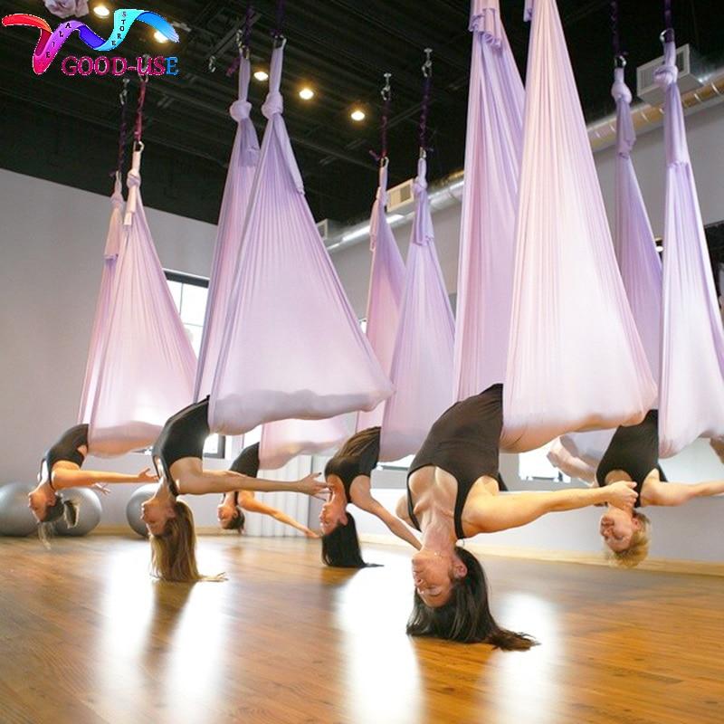5 mètres multifonction Anti-gravité Yoga hamac aérien Yoga balançoire aérienne ceintures de Traction aérienne Pilates corps façonnage dispositif