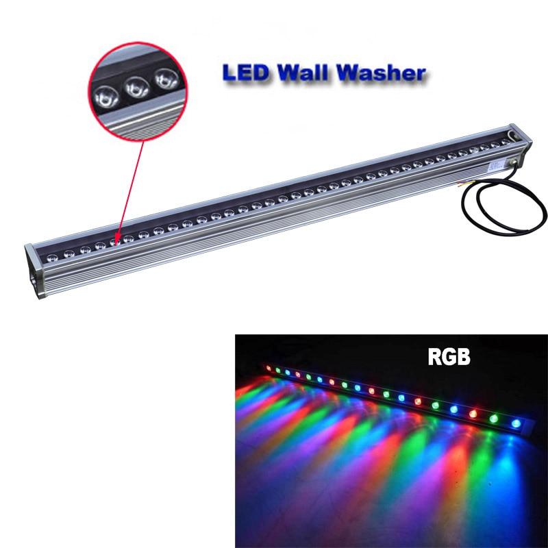 ФОТО High-power 1000* 46*46mm  IP65 waterproof outdoor led flood light DMX512 LED Wall washer lamp Landscape  Wash wall light