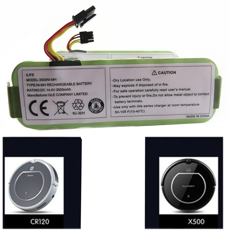 Vacuum Cleaner Parts Home Appliance Parts Ni-mh 14.4v 3500mah For Panda X500 X600 X850 High Quality Battery For Ecovacs Mirror Cr120 Vacuum Cleaner Dibea X500 X580