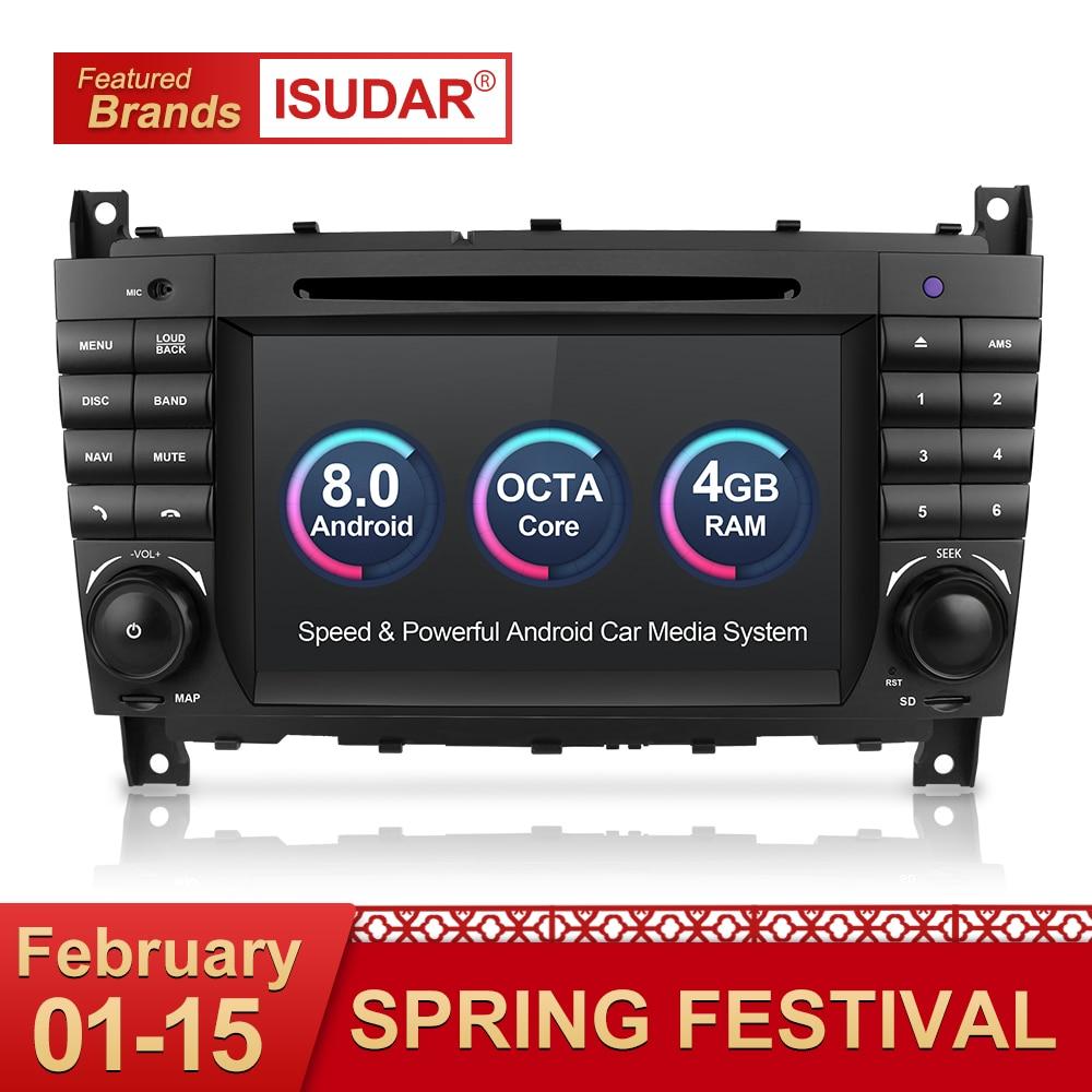 Isudar Автомагнитола 2 Din на Android 8.0 с Сенсорным 7 Дюймовым Экраном для Автомобилей Mercedes/Benz/Sprinter/W203/A180/Viano/Vito/A-class Радио FM DSP DVR