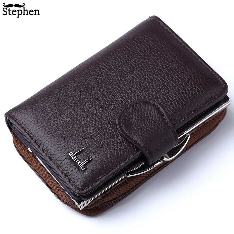2020 Women Wallets Genuine Leather Wallet High Quality Zipper And Hasp Coin Purse Cow Leather Female Purses Pocket Card Holder