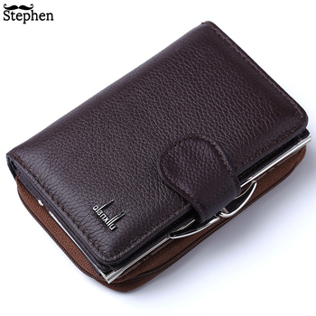 2020 Women Wallets Genuine Leather Wallet High Quality Zipper and Hasp Coin Purse Cow Female Purses Pocket Card Holder