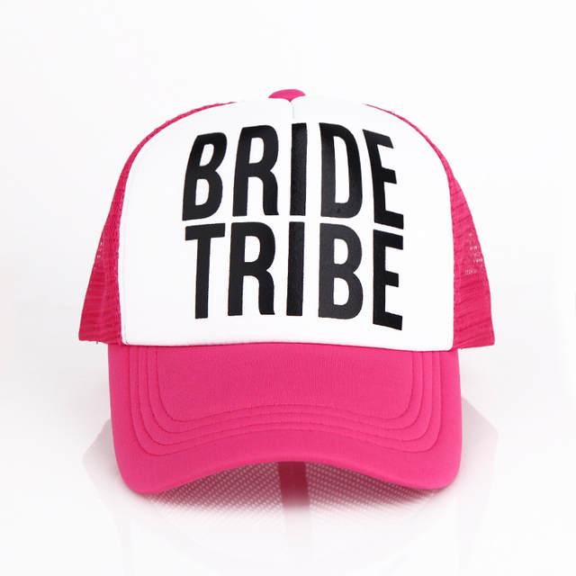 d5ea0cb85a5 Online Shop Bride Bride Tribe Bachelorette baseball cap Women Wedding  Preparewear Trucker Caps White Neon Summer Mesh hat