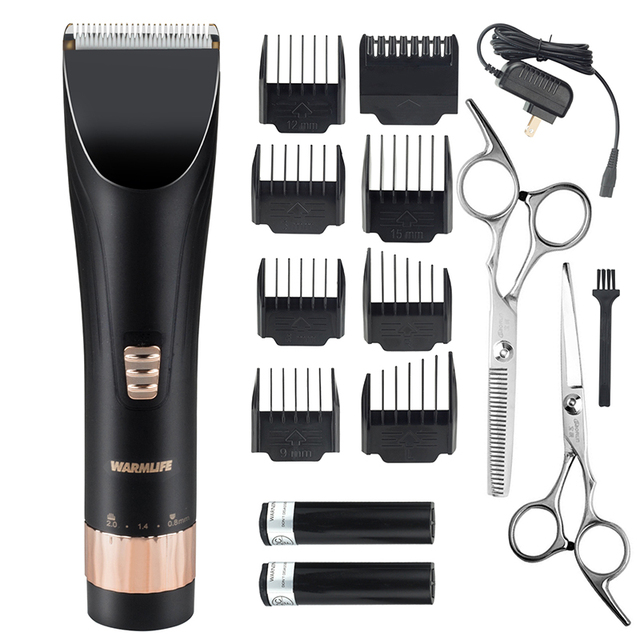 Warmlife Professional Hair Clippers Set Cordless Electric Hair