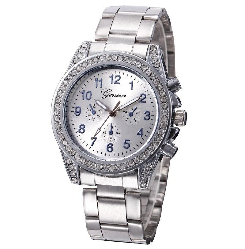 Women Watch Luxury Brand GEVEVA Casual Stainless Steel Quartz Clock For Women Ladies Wrist Watch Reloj Mujer Relogio Feminino