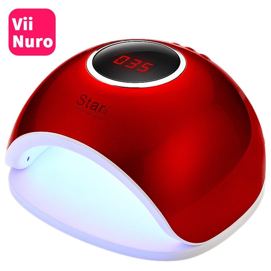 ViiNuro 72 W UV lámpara LED Nail lámpara secador de uñas para todos los geles polaco luz solar detección infrarroja 10/ 30/60 s temporizador inteligente para manicura