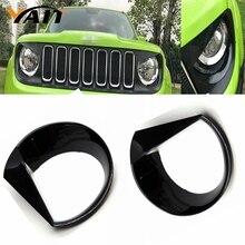 Yait обрамление передний светильник головной светильник Angry Bird стиль ABS Накладка для- Jeep Renegade-2 шт