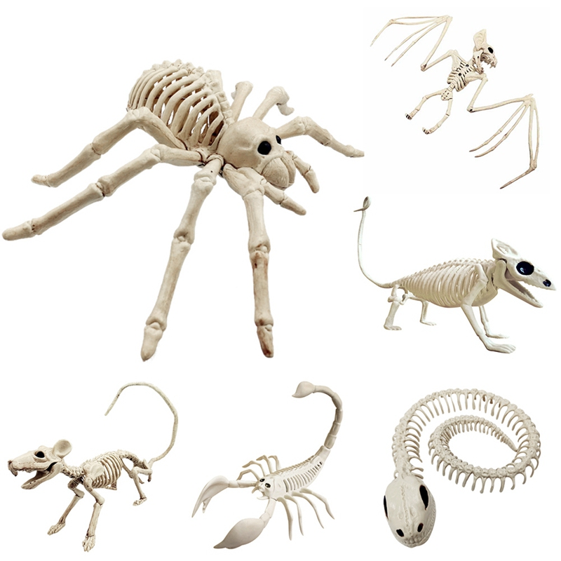Terror Simulation Animal Skeleton Model Halloween Skeleton Ornament Festival Party Accessories Room Escape Holiday Tricky Gadget