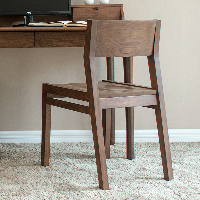 Pure Solid Wood Dining Chair American Black Walnut Color White Oak Study Chairs Meal Furniture In From On