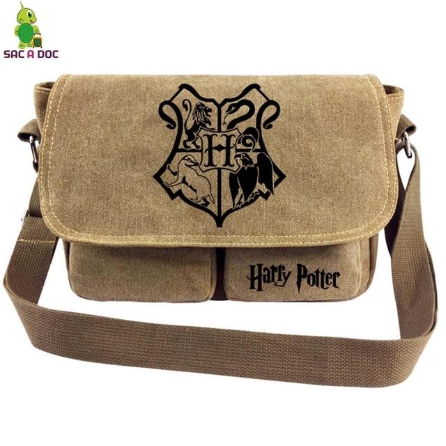 7139aa8acfdb Harri Potter Vintage Shoulder Bag Womens Mens Messenger Bags Hogwarts  School Printed Canvas Crossbody Bag Travel Handbag