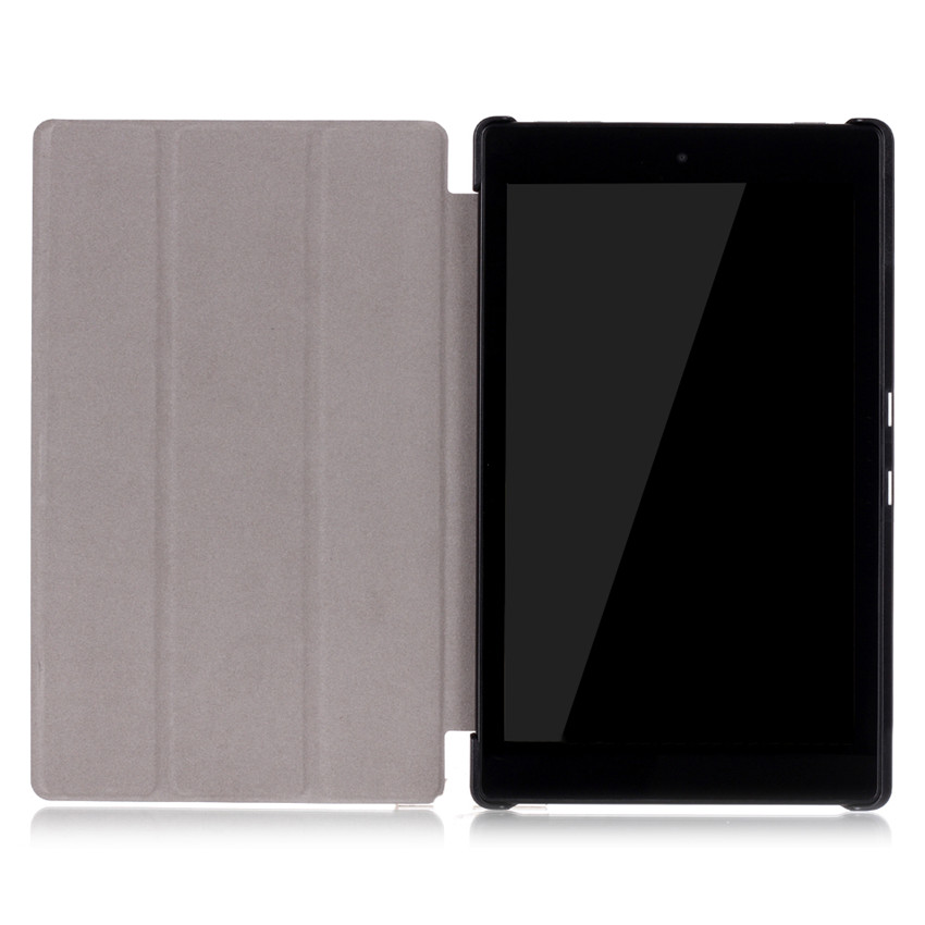 Smart Tri-fold Foldable PU Leather 8inch Tablet Case for Kinde New Fire HD8 6th Generation 2016,8 eBook Cover For New Fire 8