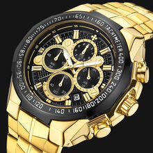WWOOR  Luxury Fashion Steel Strap Watch Men Quartz-watch Casual Male Sports Business Wristwatch Gold Clock Relogio Masculino wwoor brand luxury gold men leisure quartz watch men business date clock male stainless steel sports watches relogio masculino
