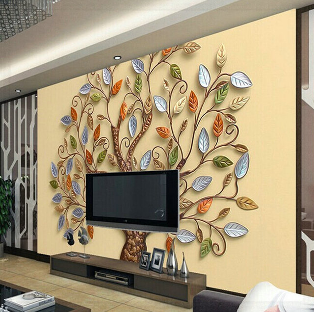 Custom any size 3D wall mural wallpaper, Abstract Chinoiserie relief ...