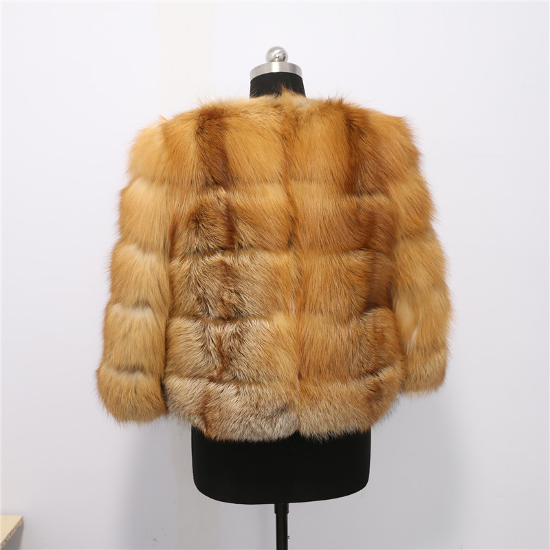 Renard Livraison Rouge Fourrure Style Manteau Réel Nouveau Usine Meilleure Prix Narual Gratuite Qualité De TTpZU