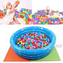 100 шт./лот, Океанский шар, Забавная детская игрушка для купания, водный бассейн, Океанский волнистый шар, экологически чистый красочный мяч, мягкий красочный мяч