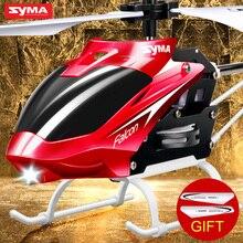 Syma w25 2ch rc пульт дистанционного управления самолета электрический вертолет крытый мини-небьющиеся дети flying toys модель красный