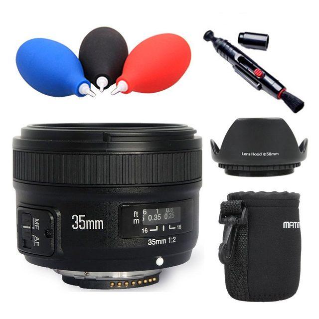 Yongnuo YN35mm F2 Lens Wide-angle Khẩu Độ Lớn Cố Định Tự Động Lấy Nét Lens cho Nikon D7100 D3200 D3300 D3100 D5100 D90 DSLR máy ảnh